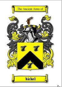 BICKEL SURNAME COAT OF ARMS PRINT - GENEALOGY Bonanza