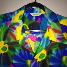 Made In Hawaii Aloha Laua Malihini Man Mens Tie Dye tropical Flowers Cam... - $27.10