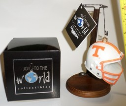Tn Vols Football Helmet glass tree Ornament collectible Tennessee Volunt... - $21.77