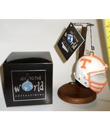 Tn Vols Football Helmet glass tree Ornament collectible Tennessee Volunt... - $21.77