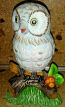 "Ceramic Owl Figurine on Branch 6"" - $9.89"