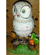 "Ceramic Owl Figurine on Branch 6"" - $9.89"