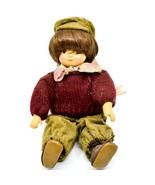 "Vintage German Adult Collector's Porcelain & Cloth 9.5"" Boy Doll w Hair - $14.84"