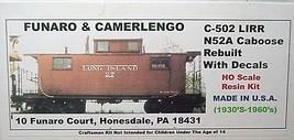 Funaro & Camerlengo HO Long Island LIRR N52A caboose rebuilt Kit 502 image 1