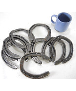 10 pc New Cast Iron Authentic Horseshoes for Crafting Size 2 Decor Barn ... - $32.99