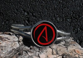 Atheist Symbol Choose Your Color Pendant Cuff Bracelet - $17.00