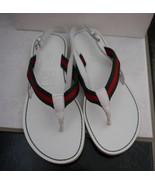 NIB 100% AUTH gucci kids flip flop thong sandals shoes 32 $220 285231 - $128.00