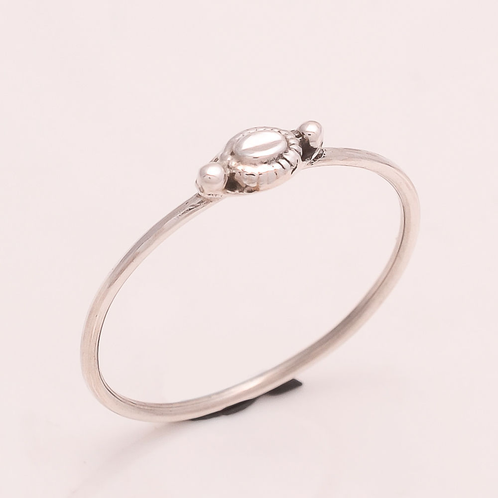 925 Sterling Silver Plain Silver Designer Ring 6 us Small Cute Ring r1734