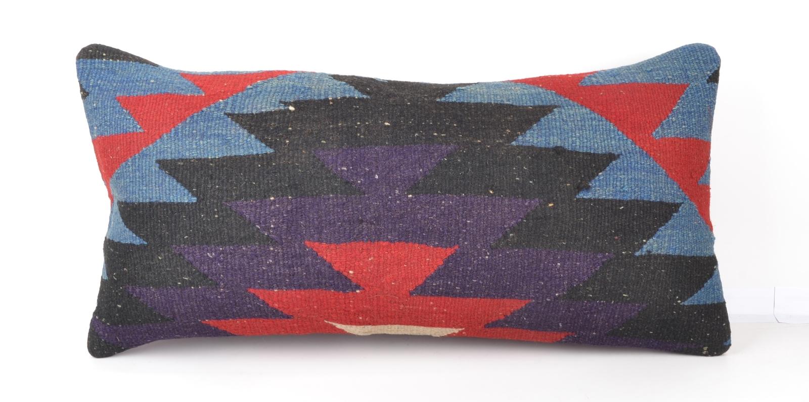 Cute Bolster Pillow Case : Vintage Chic Home Decor, Kilim Lumbar Pillow Case, Bolster Throw Cushion 24x12 - Pillows