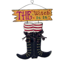 Large Wood Sign The Witch Is In   SNH006 - $14.95