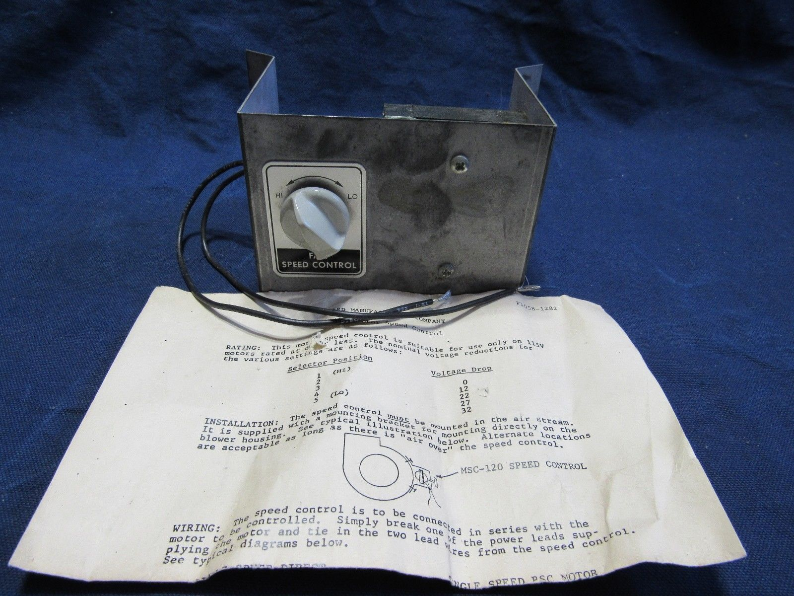 Bard MSC-120 NOS Furnace Blower Fan Motor Speed Control