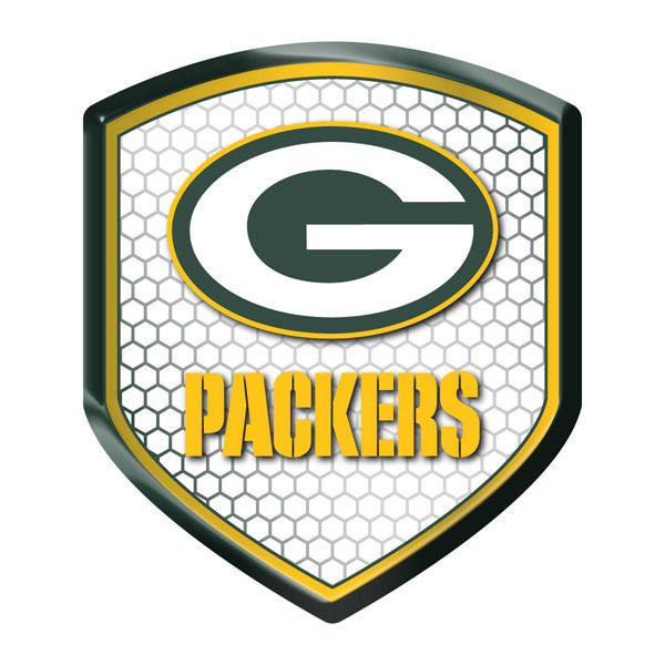 GREEN BAY PACKERS HIGH INTENSITY REFLECTOR SHIELD DOMED TEAM DECAL NFL FOOTBALL