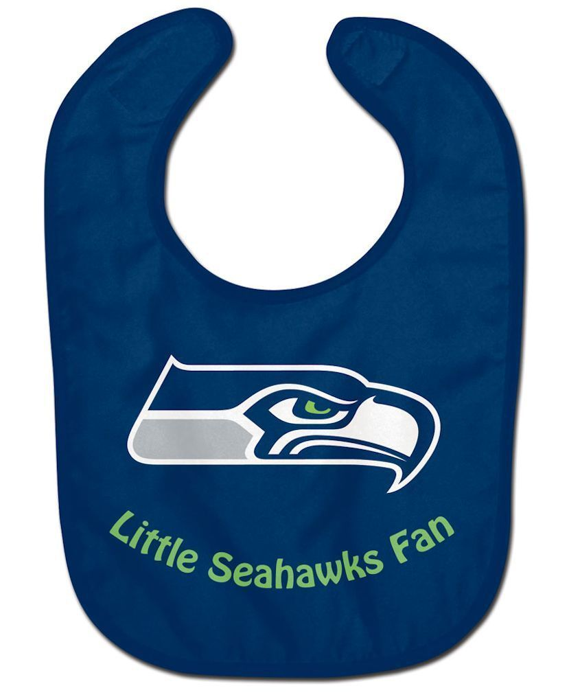 SEATTLE SEAHAWKS ALL PRO BABY BIB VELCRO CLOSURE TEAM LOGO NFL FOOTBALL