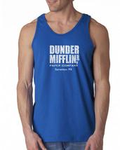 072 Dunder Mifflin Tank Top tv show funny office costume employee schrute new - $16.00+