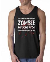 075 Zombie Apocalypse Tank Top funny zombie walking lover dead walker di... - $16.00+