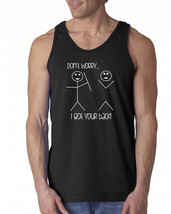 086 Got Your Back Tank Top stick figures funny cute humor vintage retro ... - €12,92 EUR+
