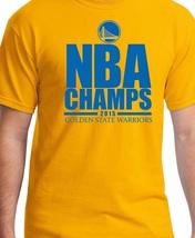 Golden State Warriors NBA 2015 Champions Yellow T-Shirt - $28.00