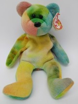 Garcia Ty Beanie Baby Bear 1995 Tie Dye Great Colors w/Tag Collectible Fast Ship - $29.69