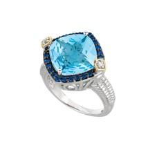 Women's Gavriel Sterling Silver Mediterranean Blue Topaz Ring - $343.56 CAD