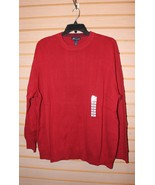 NEW WITH TAGS MENS JOHN ASHFORD SIZE 3XB 3XL RED RIBBED CREW NECK SWEATER - $19.34