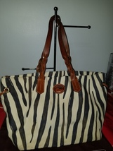 Dooney And Bourke Extra large Animal print Canvas Purse - $28.00