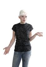 Famous Stars & Straps Womens Black or White Delirious Juniors T-Shirt 101672 NWT image 2