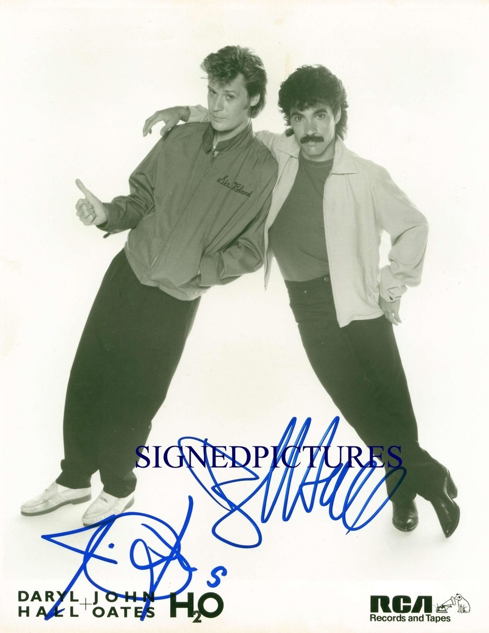 DARYL HALL AND JOHN OATES AUTOGRAPHED 8x10 RP PUBLICITY PROMO PHOTO