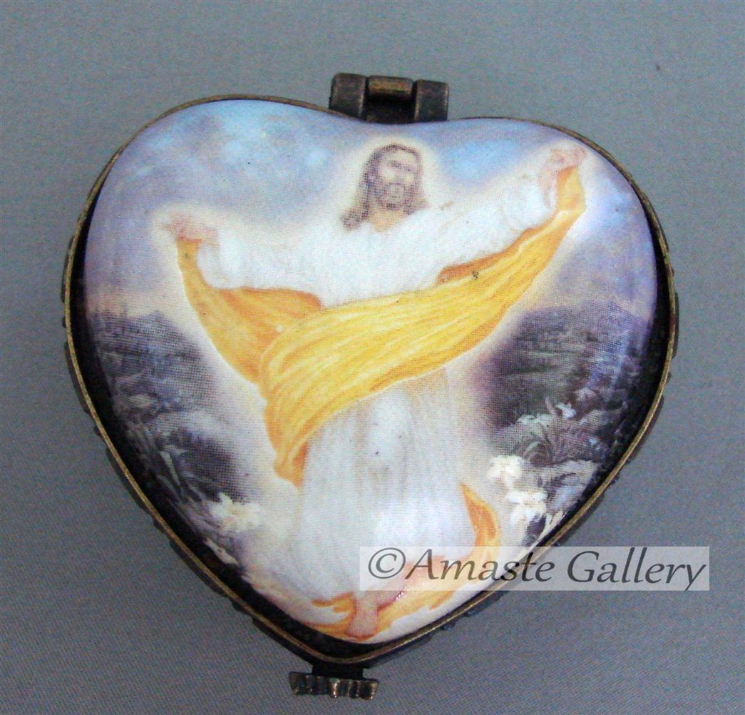 Primary image for Christain Collectible Hand Painted Trinket Box by Christopher Nick Licensed by W