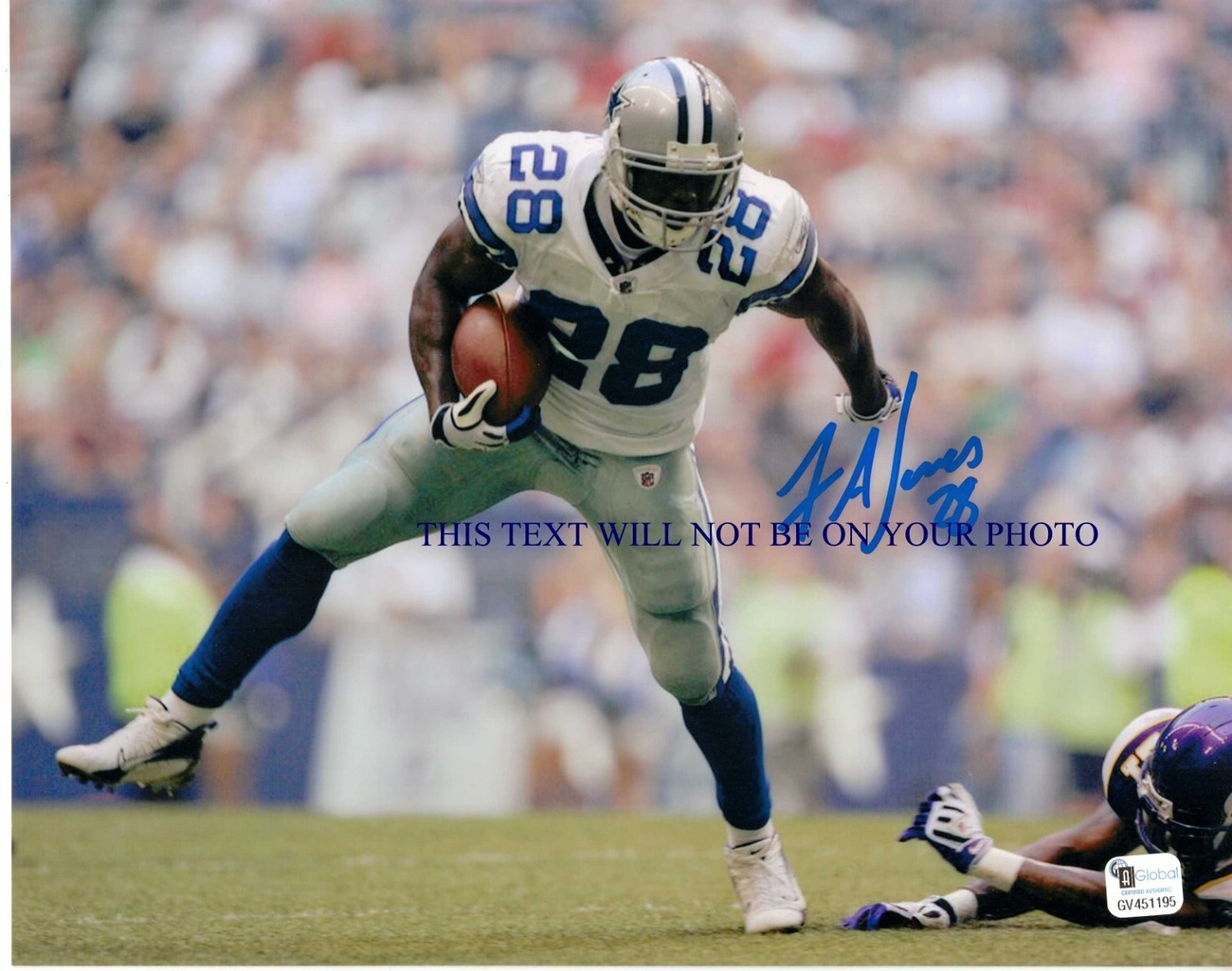 FELIX JONES AUTOGRAPHED SIGNED AUTO 8x10 RP PHOTO DALLAS COWBOYS