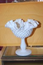 Lovely Vintage Fenton Art Glass Milk White Hob ... - $39.99