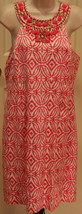 Inc International Concepts Coral Pink White Sun Dress Sz 14 Sleeveless S... - $49.99