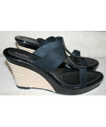 Charles by Charles David Black Patent Stretch Womens Wedge Heels Size 12... - $49.99