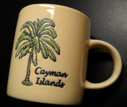 Cayman Islands Shot Glass Cream Colored Ceramic Miniature Mug Double Size - $7.99