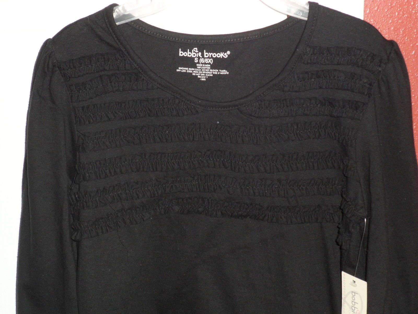 f80fca7bc1911 BOBBIE BROOKS KNIT TOP SHIRT SIZE M 7 8 BLACK RICK RACK NWT