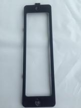 LG Microwave Cooktop OEM Light Lens Cover Black Metal Holder Bracket WB36X10217 - $3.50