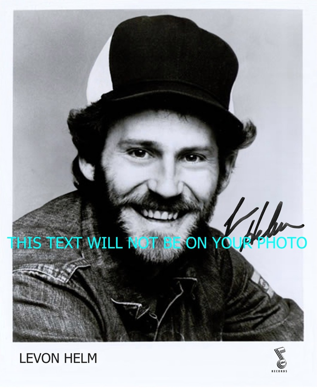 LEVON HELM THE BAND AUTOGRAPHED 8x10 RP PROMO PHOTO PUBLICITY PICTURE