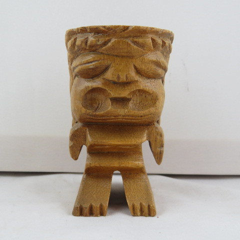 Primary image for Vintage Wood Carved Ku - Hawaiiana - Very cool little piece !!!
