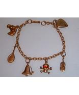 Vintage Brass Charm Bracelet. - $20.00