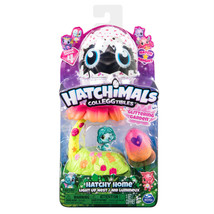 Hatchimals Colleggtibles season 4 Hatchy Home Light up Nest Glittering G... - $18.98