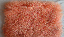 Decorative Real Mongolian Tibetan Lamb Fur Throw Pillow Cushion Cover Pi... - $32.99+