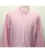 346 Brooks Brother Men's Summer Pink Gingham Dress Shirt Cotton - $37.39