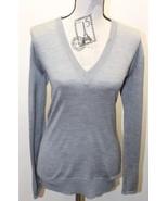 Thor & Nema Women's V Neck Gray Sweater Paris Silk - $46.74
