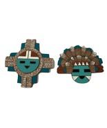 Great River Company Native american art Cut Adobe Clay set of 2 - $30.30