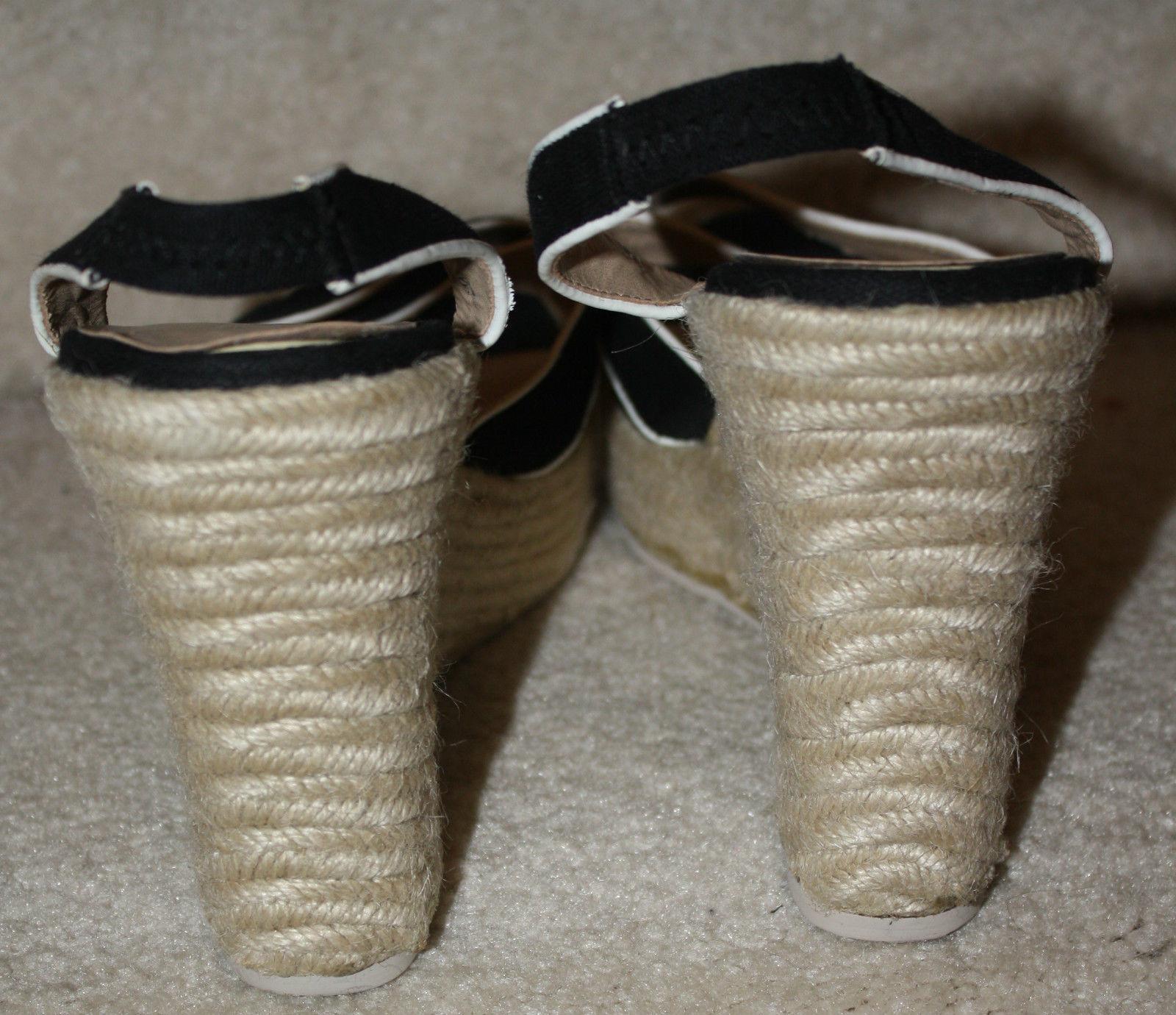 043238f25f456a Victoria s Secret Colin Stuart Black Wedge Strappy Sandal Platform 234646  8.5M