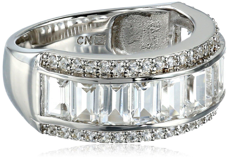 3 3 carat faux white sapphire white topaz eternity ring