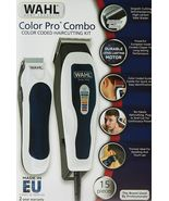 WAHL 1395 Color Pro COMBO Corded 15 Piece Hair Cutting Kit trimmer detailer - $59.30