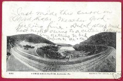 Primary image for ALTOONA PENNSYLVANIA Horse Shoe Curve RR 1907 UDB