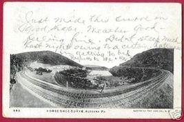 ALTOONA PENNSYLVANIA Horse Shoe Curve RR 1907 UDB - $12.50