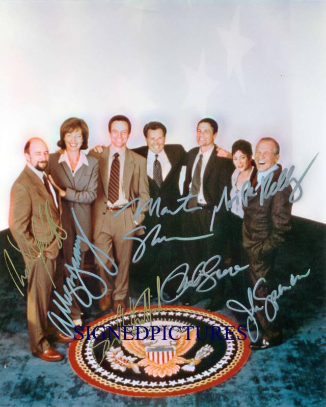 THE WEST WING CAST SIGNED AUTOGRAPHED AUTOGRAM 8X10 RP PHOTO JOHN SPENCER SCHIFF