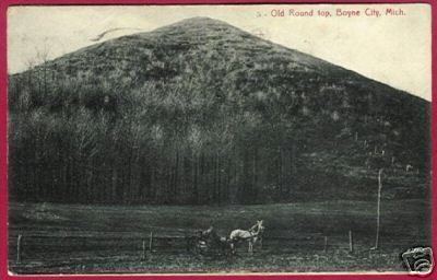 BOYNE CITY MICHIGAN Old Round Top Horse 1909